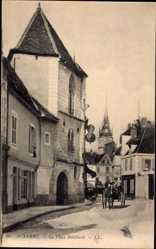 Ak Auxerre Yonne, La Place Robillard, Straßenansicht