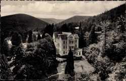 Postcard Bad Harzburg in Niedersachsen, Hotel am Papenberg, Inh. Albert Hübner
