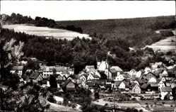 Postcard Heigenbrücken Spessart Unterfranken, Totalansicht der Ortschaft