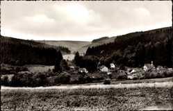 Postcard Fohlenplacken Holzminden Solling, Ort im Tal, Wälder
