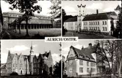 Postcard Aurich in Ostfriesland, Schloss, Verwaltungssitz