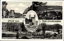 Postcard Bad Gandersheim in Niedersachsen, Markt, Kurpark, Osterbergsee