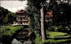 Postcard Hardheim Nordbaden, Gasthof und Pension Zur Wohlfahrtsmühle
