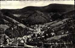 Postcard Bad Griesbach Schwarzwald, Vogelschau auf den Ort im Tal