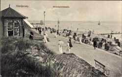 Postcard Norderney in Ostfriesland, Strandpromeande, Strandgäste