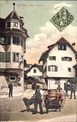 Postcard Luzern Stadt Schweiz, Straßenszene aus dem Ort, Arbeitshunde