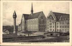 Postcard Tournai Wallonien Hennegau, Passy Froyennes, Pensionnat, Wasserturm