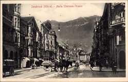 Postcard Innsbruck Tirol Österreich, Maria Theresien Straße, Pferdekarren