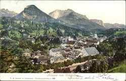 Ak Bad Aussee Steiermark Österreich, Blick von Sixleithen