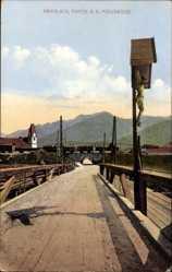 Postcard Krieglach Steiermark, Partie an der Mürzbrücken, Jesuskreuz