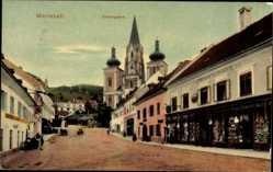 Postcard Mariazell Steiermark Österreich, Grazergasse, Kirche, Fremdenhof