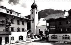 Postcard Westendorf Tirol Österreich, Gasthof Mesnerwirt, Kirche