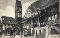 Postcard Interlaken Kt. Bern Schweiz, Heidenhäuser, Turmuhr