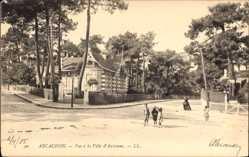 Ak Arcachon Gironde, Vue à la Ville d'Automne, Herbst, Straßenpartie