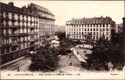 Ak Saint Étienne Loire, Place Dorian et l'Hôtel de France, Platz