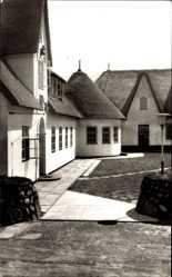 Postcard Kampen auf Sylt, Partie am Haus Kliffende, Reetdach, Eingang