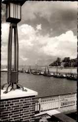 Postcard Nordseebad Dangast Varel am Jadebusen, Boote im Hafen, Meer