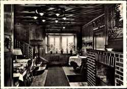 Postcard Braunlage im Oberharz, MIAG Heim, Innenansicht, Kamin, Treppe