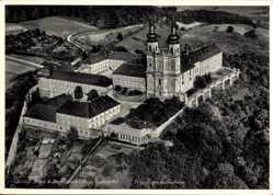 Postcard Bad Staffelstein am Main Oberfranken, Schloss Banz, Fliegeraufnahme