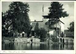 Postcard Gießen an der Lahn Hessen, Haus Schmall, Arch. Ernst Schmidt, Bauhaus