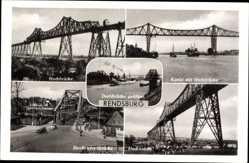 Postcard Rendsburg in Schleswig Holstein, Straßendrehbrücke, Hochbrücke, Kanal