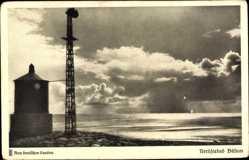Postcard Büsum Kreis Dithmarschen, Das Meer erglänzte weit hinaus, Turm