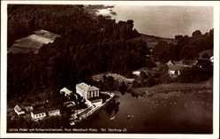 Postcard Wendisch Rietz Kreis Oder Spree,Ottos Hotel am Scharmützelsee,Fliegeraufnahme