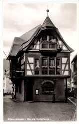 Postcard Assmannshausen Rüdesheim am Rhein, Die alte Dorfschenke