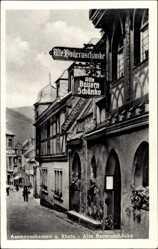 Postcard Assmannshausen Rüdesheim am Rhein, Partie a.d. alten Bauernschänke