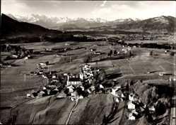Postcard Martinzell Waltenhofen im Oberallgäu, Blick auf das Oberdorf