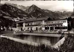 Postcard Tiefenberg Ofterschwang, Sanatorium Tiefenberger Hof, Gebirge