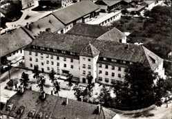 Postcard Schönbrunn Röhrmoos Oberbayern, Fliegeraufnahme, Gasthaus zur Linde