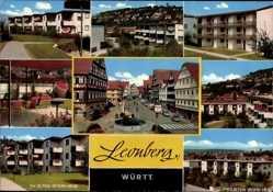 Postcard Leonberg im Kreis Böblingen, Ev. Alten Wohn Heim, Straßenpartie