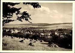 Postcard Raswithastadt Bad Gandersheim in Niedersachsen, Blick vom Feld auf den Ort