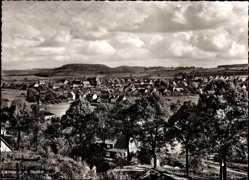Postcard Steinau an der Straße, Gesamtansicht des Ortes mit Umgebung