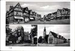 Postcard Celle in Niedersachsen, Großer Plan, Schloß, Stadtkirche und Rathaus