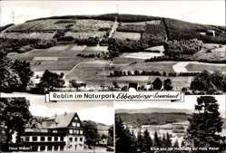 Postcard Reblin Herscheid im Naturpark Ebbegebirge, Haus Weber, Panorama