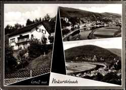 Postcard Neckarsteinach im Kreis Bergstraße Hessen, Haus Lipponer, Totalansicht