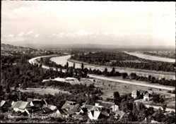 Postcard Bad Bellingen am Rhein, Blick auf den Ort, Hotel Dreiländereck