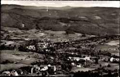 Postcard Winterkasten Lindenfels im Odenwald, Blick vom Kaiserturm auf den Ort