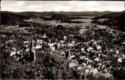 Postcard Biedenkopf an der Lahn, Panoramablick auf den Ort und die Umgebung