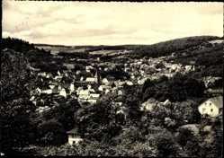 Postcard Donsbach Dillenburg im Lahn Dill Kreis, Gesamtansicht des Ortes