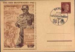 Ganzsachen Ak Tag der Briefmarke 1942, Deutsche Feldpost