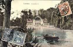 Postcard Losoncz Slowakei, Csonakazo to, Ruderboot auf einem Gewässer, Gebäude