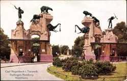 Postcard Hamburg Eimsbüttel Stellingen, Hagenbecks Tierpark, Haupteingang