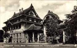 Postcard Berlin Tiergarten, Zoologischer Garten,Elefantenportal,Verwaltungsgebäude,NPG