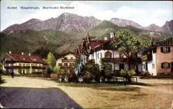 Postcard Kochel am See, Blick in die Hauptstraße, Bayrisches Hochland