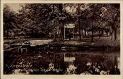 Postcard Burg im Spreewald, Gasthaus zur Eiche, Gustav Roschke