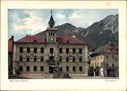 Postcard Bad Reichenhall in Oberbayern, Blick auf den Marktplatz