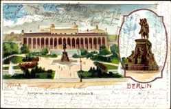 Litho Berlin Mitte, Lustgarten mit Denkmal Friedrich Wilhelm III